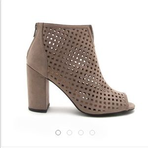 New in box - Qupid Perforated Ankle Bootie
